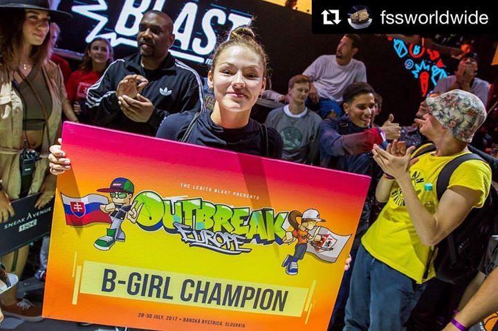 Kate wins bgirl battle at Outbreak
