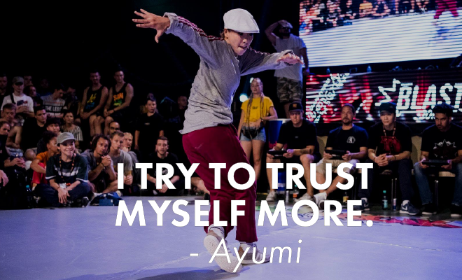 Time for some questions to Ayumi
